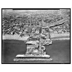 1930s Aerial View Photograph of Venice Beach California Pier