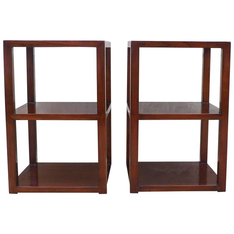Pair of Fine Jumu End Tables  For Sale