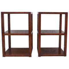 Pair of Fine Jumu End Tables