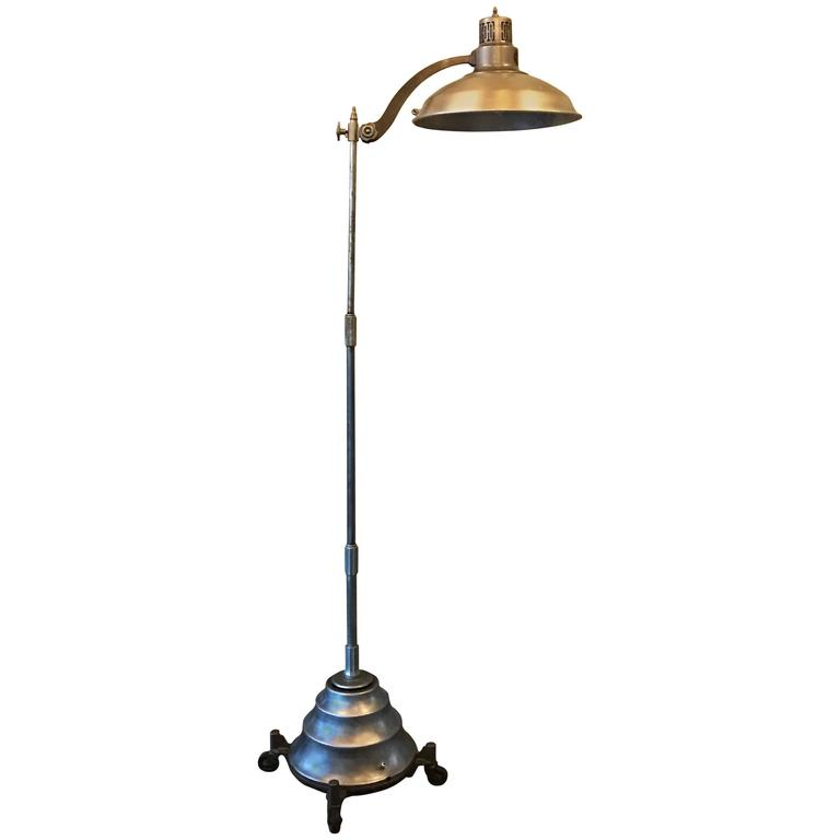 Industrial Steel Converted Sun Floor Lamp by General Electric For ...
