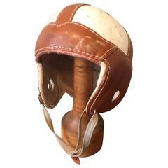 1930s American Junior Leather Football Helmet