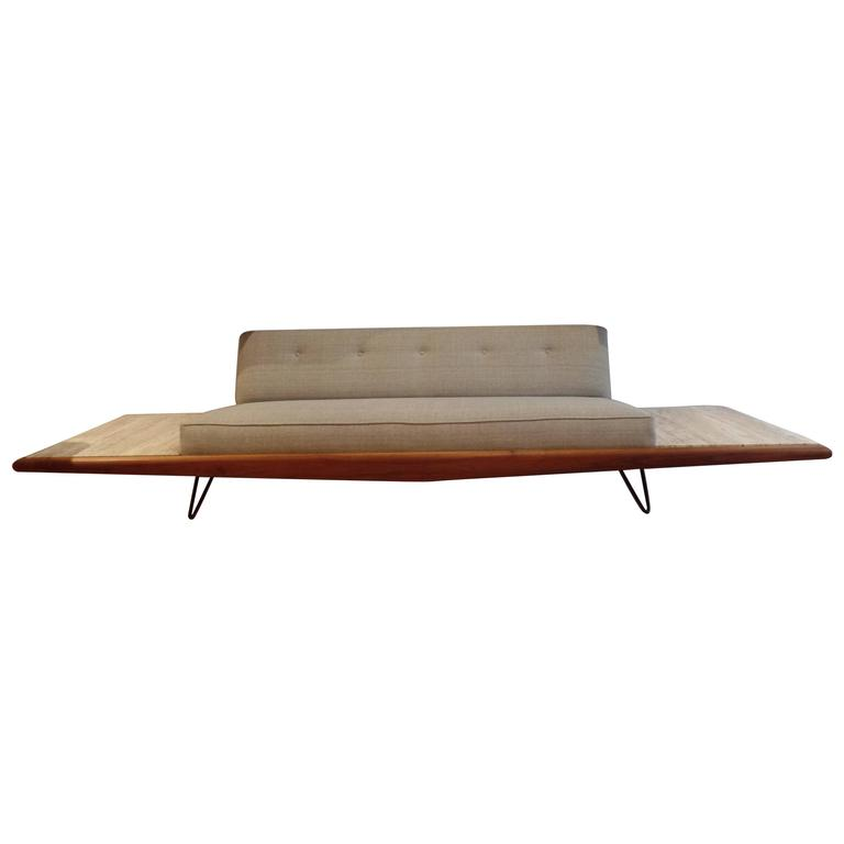Rare Adrian Pearsall Sofa With End Tables Displayed At