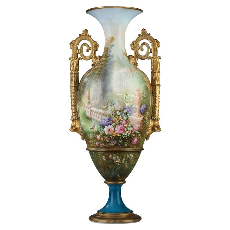 Large 19th Century Limoges Porcelain Vase At 1stdibs