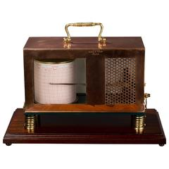 Edwardian Marine Copper Thermograph by Short and Mason, London