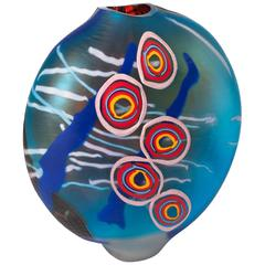 Mouthblown Murano Glass Vase by Davide Salvadore in Different Technics