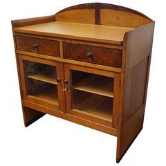 Amsterdam School Art Deco Drinks Cabinet Small Dresser with Drawers & Burl Inlay