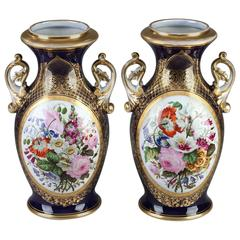 Pair of 19th Century Bayeux Porcelain Vases