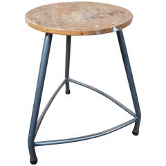 Original 1960s retro vintage French Painters Stool