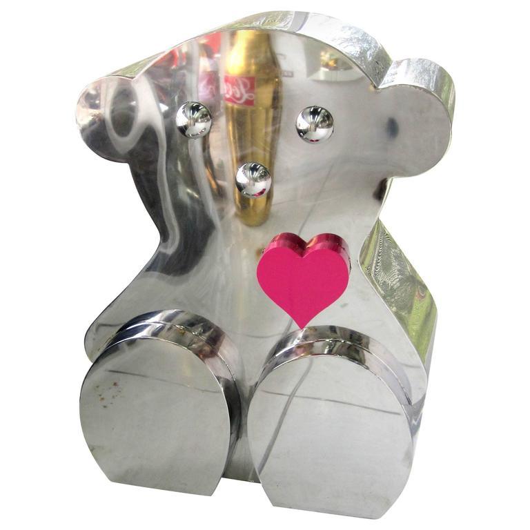 Giant Pop Art Stainless Steel Teddy Bear Sculpture
