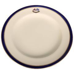 Flagship Luncheon Plate J. Pierpont Morgan's Personal Dinnerware, circa 1890
