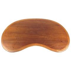 Vintage Walnut Kidney Shaped Coffee Table