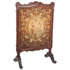 Antique French Summer Fireplace Screen Circa 1900