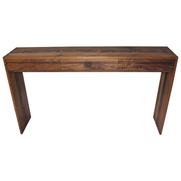 Handmade One-of-a-kind Walnut Console Table