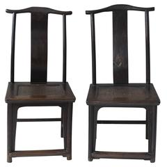 Pair of Antique Yoke-Back Chinese Chairs