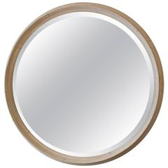 Outsized Round Painted Wall Mirror