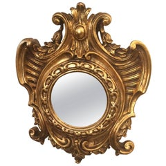 French Gilt Cartouche Mirror