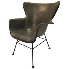 Lawrence Peabody for Selig Wingback Fiberglass Chair
