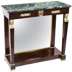 Antique French Empire Marble-Top and Ormolu Console Table, circa 1810