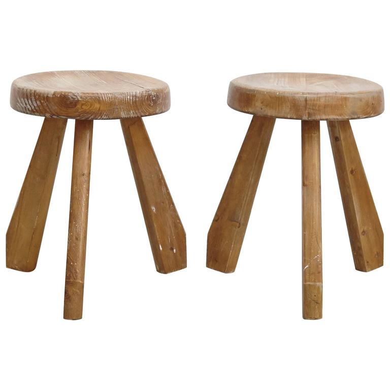Pair of Sandoz Stools by Charlotte Perriand, circa 1960 For Sale