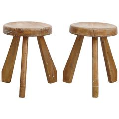 Pair of Sandoz Stools by Charlotte Perriand, circa 1960