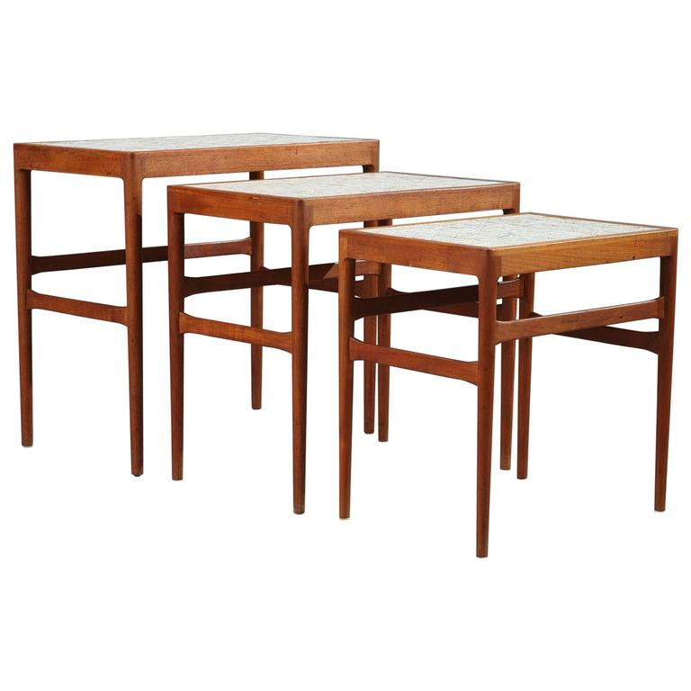 Set of three nesting tables by Knud Mortensen Pour Soren Horn