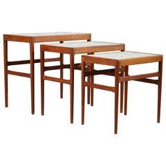 Set of three nesting tables by Knud Mortensen Pour Soren Horn