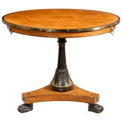 Early 19th Century Burr Amboyna Centre or Occasional Table, Possibly Russian