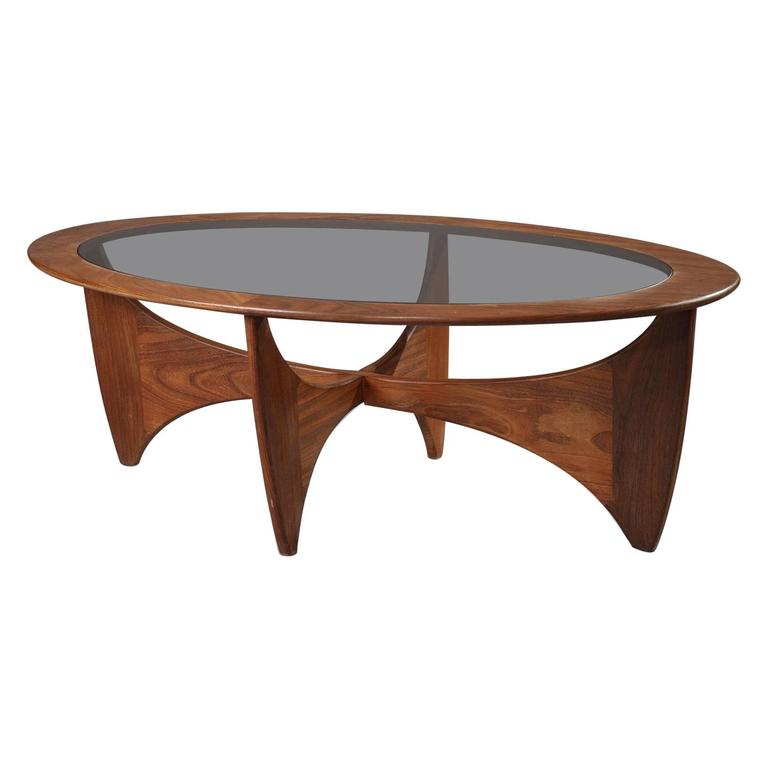 1960s Astro Coffee Table In Teak And Glass By Victor
