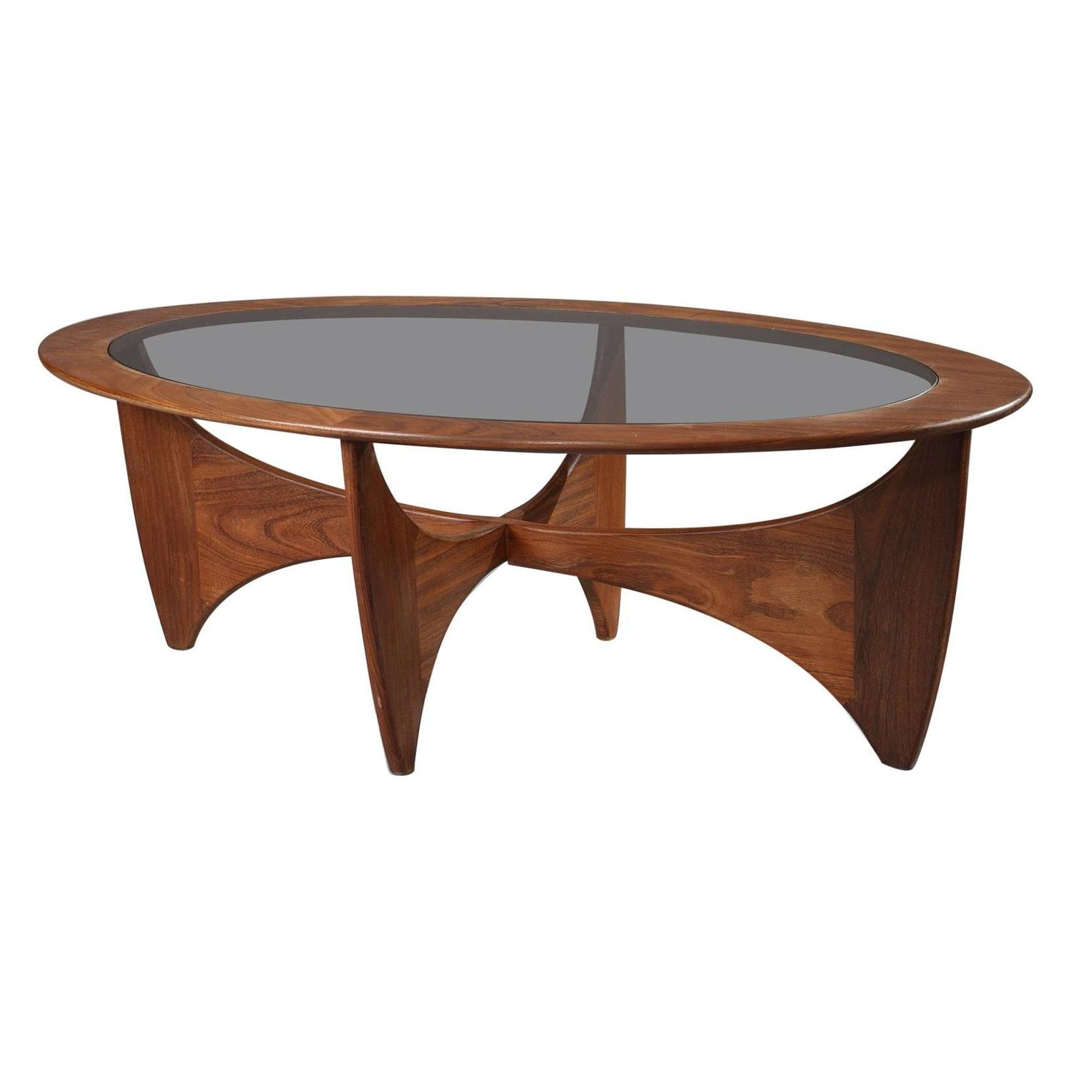 1960s Astro Coffee Table in Teak and Glass by Victor Wilkins For