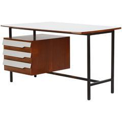 Italian Vittorio Dassi Desk Mahogany and Formica, 1950s