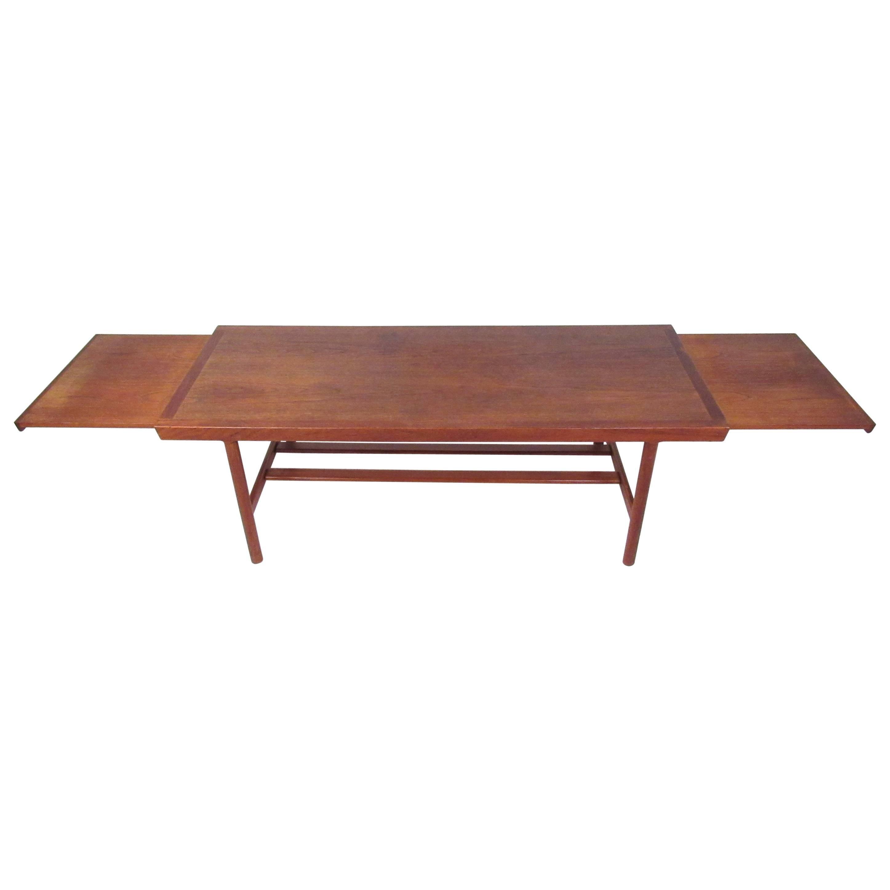 Mid-Century Danish Teak Extendable Coffee Table