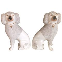 Classic Pair of White Staffordshire Spaniels