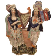 Large Staffordshire Musician Couple