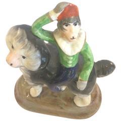 Darling Little Staffordshire Monkey Riding on Dog