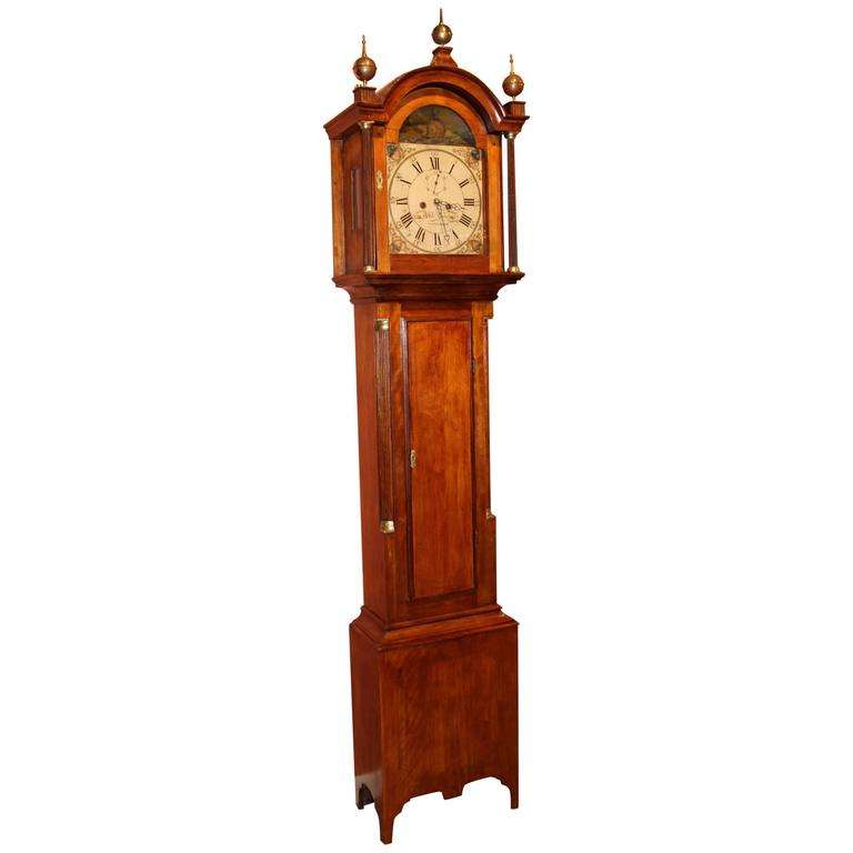 Early 19th Century Abel Hutchins Concord NH Tall Case Clock With
