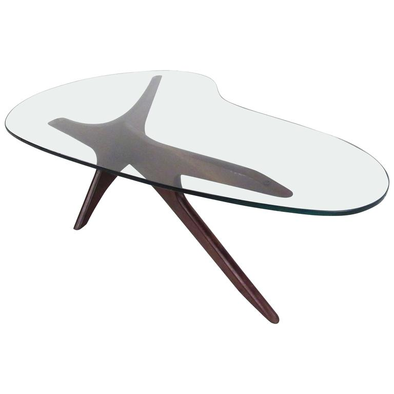 Mid Century Modern Kidney Shaped Coffee Table In The Style Of Adrian Pearsall 1
