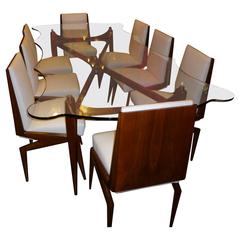 Very Rare Dining Table with Eight Chairs Designed by Ico Parisi