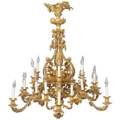 Fine Early 20th Century Gilt Bronze Twenty-Four Light Chandelier