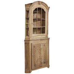 19th Century French Neoclassical Corner Bookcase ~ Vitrine