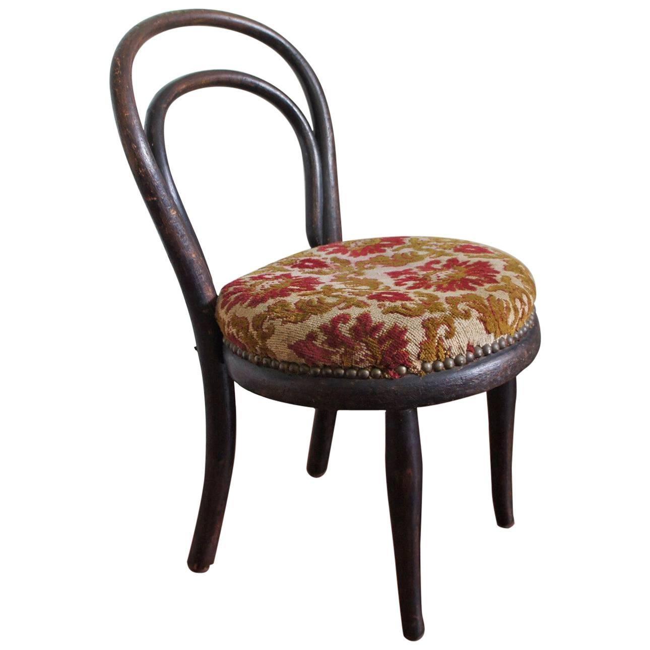 Rare and Original Antique Bentwood Thonet Child's Chair 19th Century Furniture