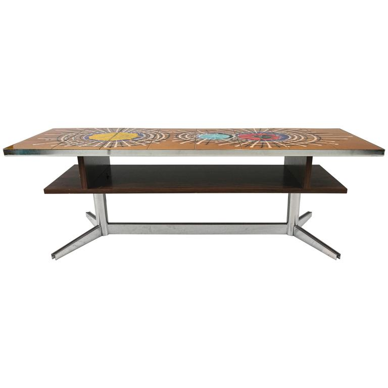 Mid-Century Modern Tile-Top Coffee Table For Sale At 1stdibs