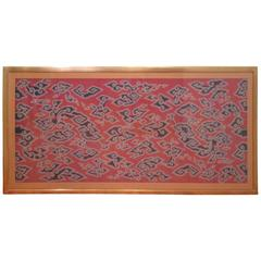 Early 20th Century Indonesian Framed Textile