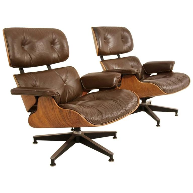 Pair of Eames 670 Lounge Chairs for Herman Miller