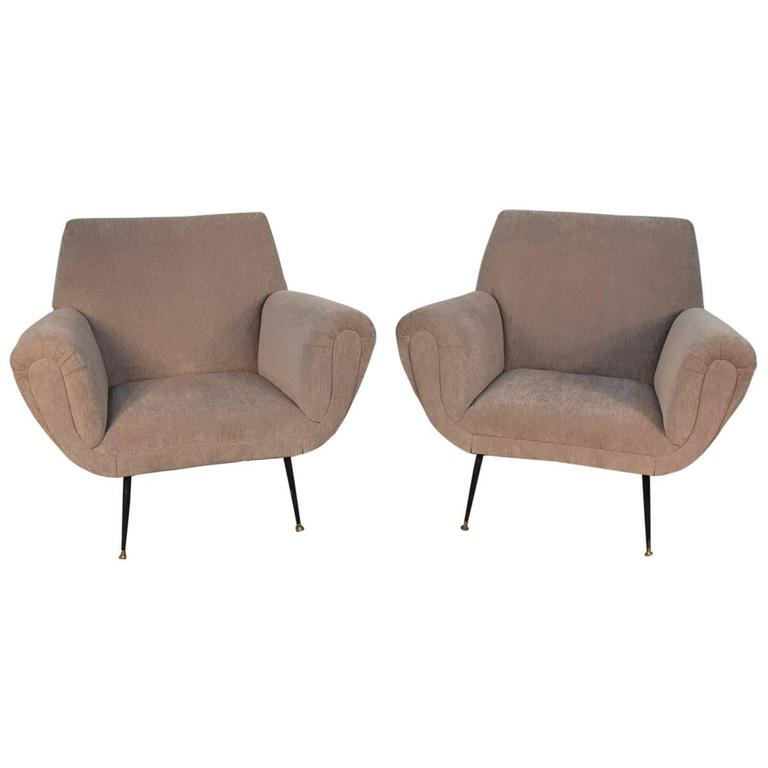 minotti italian furniture. Pair Of Vintage Italian Armchairs In The Manner Minotti For Sale Furniture