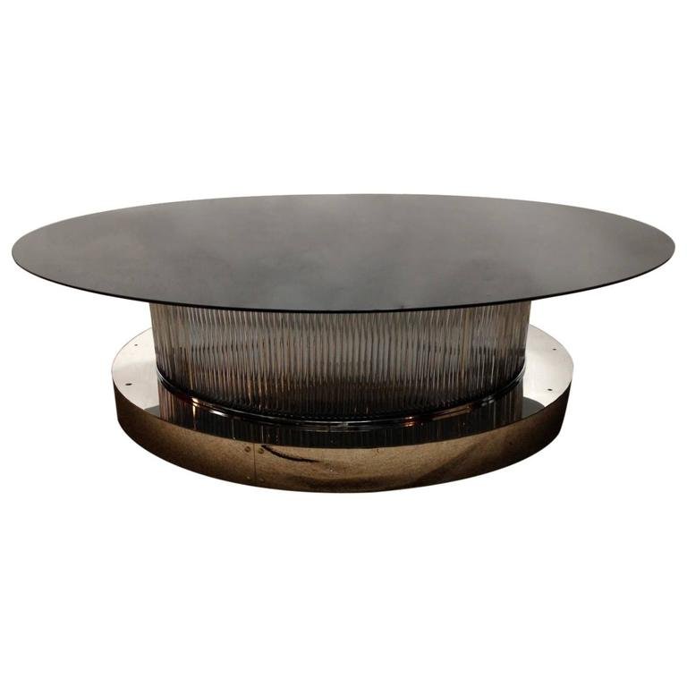 Italian Crystal Bars Coffee Table For Sale At 1stdibs