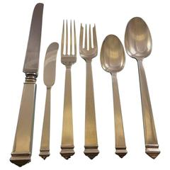 Hampton by Tiffany and Co Sterling Silver Flatware Set, Service 24 Pieces