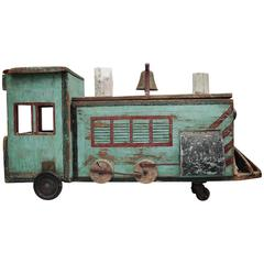 Folk Art Americana Train