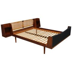 Teak and Cane Bed by Hans Wegner