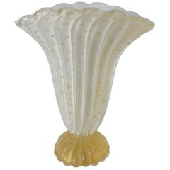 Murano Vase with Gold Flecks
