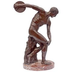 "Large Bronze Sculpture ""The Discus Thrower"""